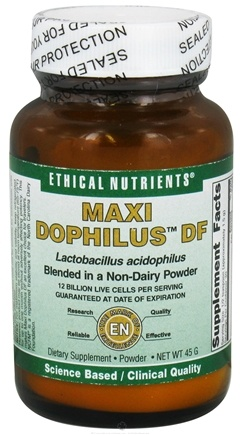 DROPPED: Ethical Nutrients - Maxi Dophilus DF - 45 Grams CLEARANCE PRICED