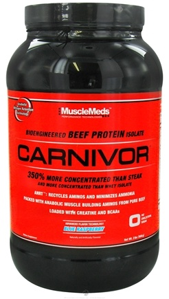 DROPPED: MuscleMeds - Carnivor Bioengineered Beef Protein Isolate Blue Raspberry - 2 lbs. CLEARANCE PRICED