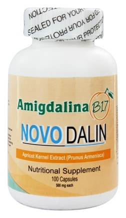 Apricot Power - Amygdalin B-17 Novodalin 500 mg. - 100 Capsules