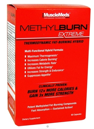 DROPPED: MuscleMeds - Methylburn Extreme Thermodynamic Fat-Burning Hybrid - 60 Capsules