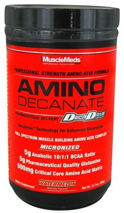 DROPPED: MuscleMeds - Amino Decanate Professional Strength Amino Acid Formula Watermelon - 12.7 oz. CLEARANCE PRICED