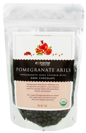 DROPPED: Extreme Health USA - Pomegranate Arils Seeds covered with Dark Chocolate - 5 oz. CLEARANCE PRICED