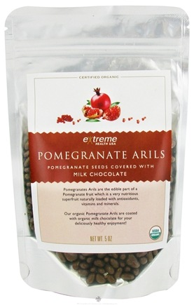 DROPPED: Extreme Health USA - Pomegranate Arils Seeds covered with Milk Chocolate - 5 oz. CLEARANCE PRICED