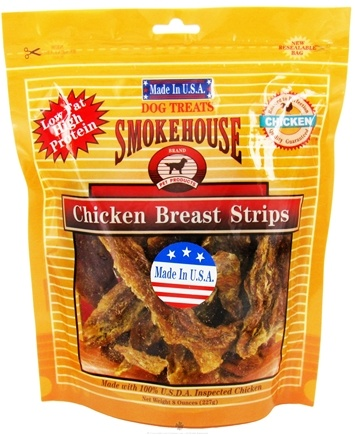 DROPPED: Smokehouse Pet Products - Chicken Breast Strips Dog Treats - 8 oz. CLEARANCE PRICED