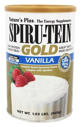 Nature's Plus - Spiru-Tein Gold High Protein Energy Meal Powder Vanilla - 1.03 lbs.