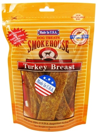 DROPPED: Smokehouse Pet Products - Turkey Breast Dog Treats - 6 oz.