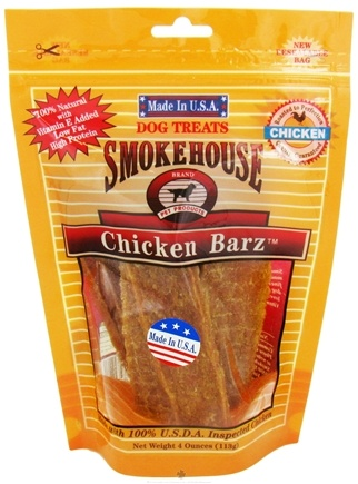 DROPPED: Smokehouse Pet Products - Chicken Barz Dog Treats - 4 oz.