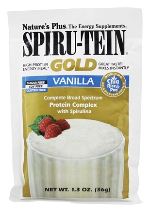 Nature's Plus - Spiru-Tein Gold High Protein Energy Meal Packet Vanilla - 1.3 oz.