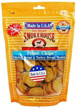 DROPPED: Smokehouse Pet Products - Prime Chips Dog Treats Chicken Breast & Turkey Breast Tendons - 8 oz. CLEARANCE PRICED