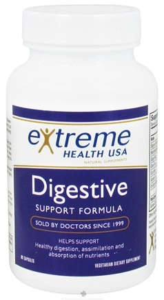 DROPPED: Extreme Health USA - Digestive Support Formula - 90 Capsules CLEARANCE PRICED