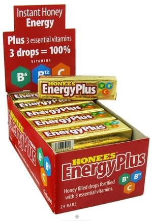 DROPPED: Honees - Energy Plus Honey Filled Drops - 9 Lozenges CLEARANCE PRICED