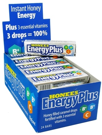 Honees - Energy Plus Honey Filled Caramel Drops - 9 Lozenges