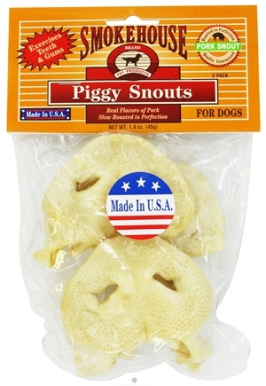 DROPPED: Smokehouse Pet Products - Piggy Snouts For Dogs - 2 Pack CLEARANCE PRICED