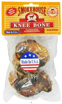 DROPPED: Smokehouse Pet Products - Knee Bone For Dogs - 2 Pack CLEARANCE PRICED