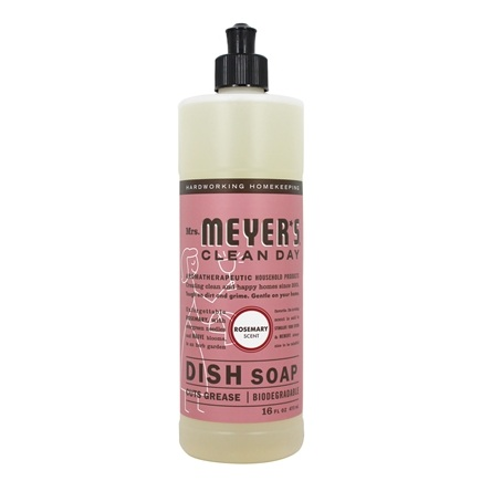 Mrs. Meyer's - Clean Day Liquid Dish Soap Rosemary - 16 oz.