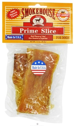 """DROPPED: Smokehouse Pet Products - Prime Slice For Dogs 4"""" - 2 Pack"""