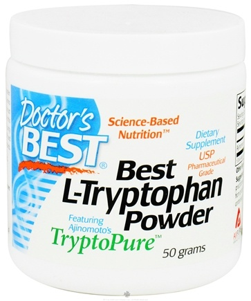 DROPPED: Doctor's Best - Best L-Tryptophan Powder Featuring Ajinomoto's TryptoPure 500 mg. - 50 Grams