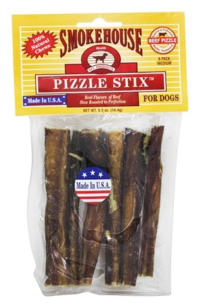 Smokehouse Pet Products - Beef Pizzle Stix For Dogs Medium - 6 Pack
