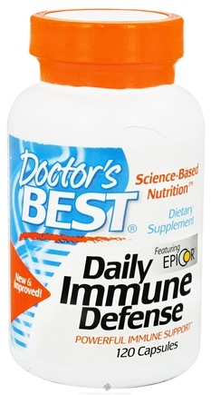 DROPPED: Doctor's Best - Daily Immune Defense Featuring EpiCor - 120 Capsules