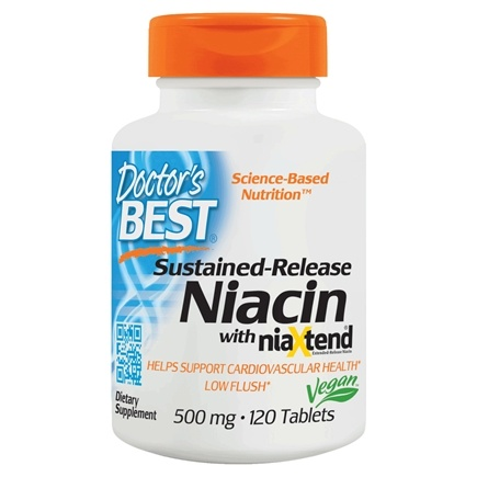 DROPPED: Doctor's Best - Real Niacin (As Nicotinic Acid) 500 mg. - 120 Tablets