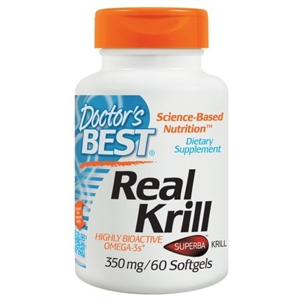Doctor's Best - Real Krill Antarctic Krill Oil Complex 350 mg. - 60 Softgels