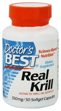 DROPPED: Doctor's Best - Real Krill Antarctic Krill Oil Complex 350 mg. - 30 Softgels