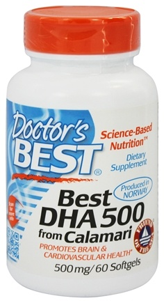 DROPPED: Doctor's Best - Best DHA 500 From Calamari 500 mg. - 60 Softgels