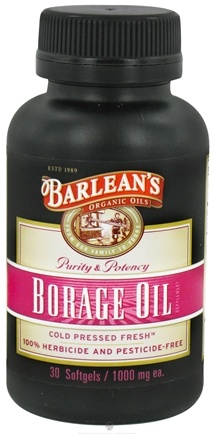 DROPPED: Barlean's - Borage Oil Cold Pressed 1000 mg. - 30 Softgels