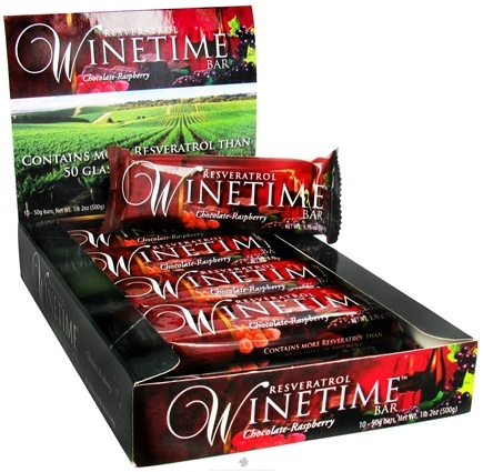 DROPPED: Resvez - Winetime Resveratrol Bar Chocolate Raspberry - 1.76 oz.