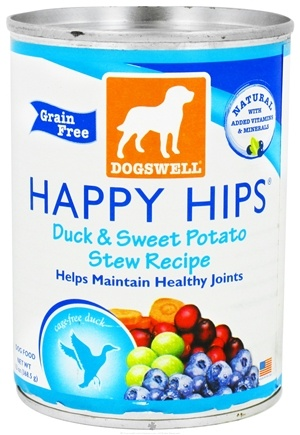 DROPPED: Dogswell - Happy Hips Duck & Sweet Potato Stew Recipe - 13 oz. CLEARANCE PRICED