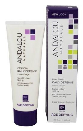 Andalou Naturals - Facial Lotion Age-Defying Daily Defense 18 SPF - 2.7 oz.