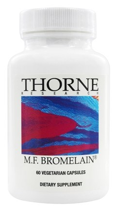 Thorne Research - M.F. Bromelain 1000 mg. - 60 Vegetarian Capsules