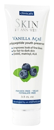 Skin by Ann Webb - Skin Organics Vanilla Acai Polypeptide Youth Preserver Night Cream - 3.5 oz.