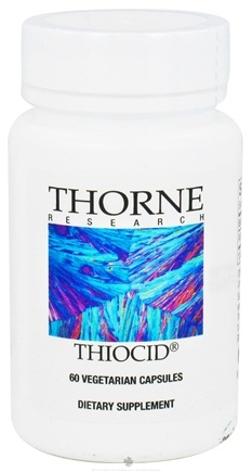 DROPPED: Thorne Research - Thiocid 100 mg. - 60 Vegetarian Capsules CLEARANCE PRICED