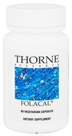 DROPPED: Thorne Research - Folacal 800 mcg. - 60 Vegetarian Capsules