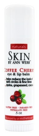 Skin by Ann Webb - Naturals Coffee Cherry with Hemp Oil Eye and Lip Balm - 0.5 oz. (formerly Skin Organics)