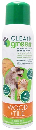 DROPPED: Clean + Green - Wood & Tile Cleaner, Odor Eliminator & Stain Remover For Dogs & Cats - 14 oz. CLEARANCE PRICED