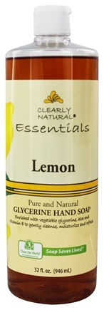 DROPPED: Clearly Natural - Natural Hand Wash Liquid Soap Refill Lemon - 32 oz. Formerly Citrus Magic