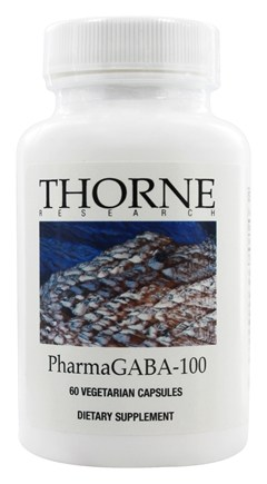 Thorne Research - PharmaGABA-100 mg. - 60 Vegetarian Capsules