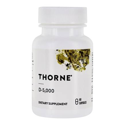 Thorne Research - D-5,000 IU - 60 Vegetarian Capsules