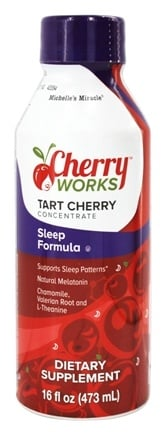 Cherry Works - Tart Cherry Concentrate Sleep Formula Created by Michelle's Miracle - 16 oz.