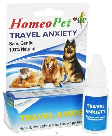DROPPED: HomeoPet - Travel Anxiety Liquid Drops For Pets - 15 ml. CLEARANCE PRICED