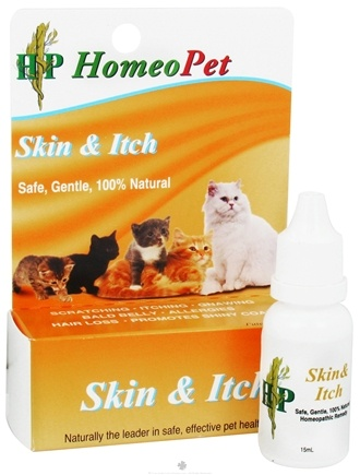 DROPPED: HomeoPet - Skin & Itch Feline Relief Liquid Drops - 15 ml. CLEARANCE PRICED