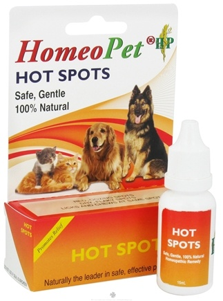 DROPPED: HomeoPet - Hot Spots Liquid Drops For Pets - 15 ml. CLEARANCE PRICED