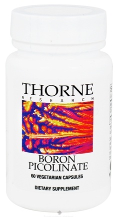 DROPPED: Thorne Research - Boron Picolinate 3 mg. - 60 Vegetarian Capsules CLEARANCE PRICED