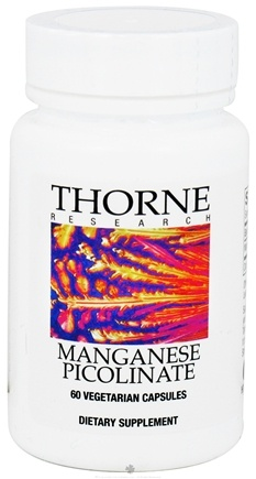 DROPPED: Thorne Research - Manganese Picolinate 15 mg. - 60 Vegetarian Capsules