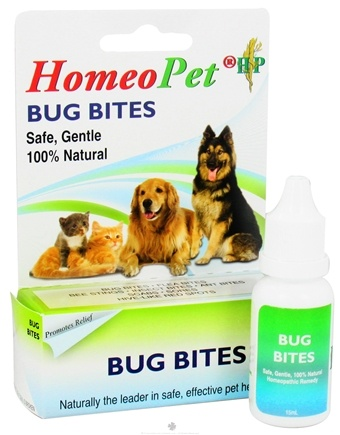 DROPPED: HomeoPet - Bug Bites Liquid Drops For Pets - 15 ml. CLEARANCE PRICED