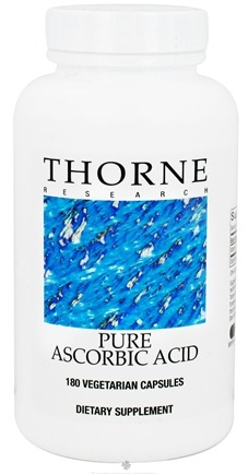 DROPPED: Thorne Research - Pure Ascorbic Acid 500 mg. - 180 Vegetarian Capsules