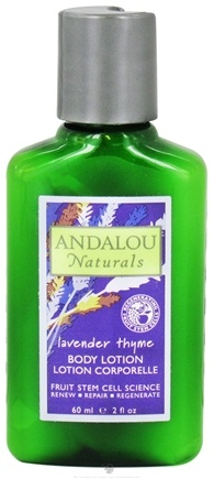 DROPPED: Andalou Naturals - Body Lotion Refreshing Lavender Thyme - 2 oz. Travel Size CLEARANCE PRICED
