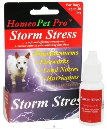 DROPPED: HomeoPet - Storm Stress For Dogs Up To 20 lbs. Liquid Drops - 15 ml.